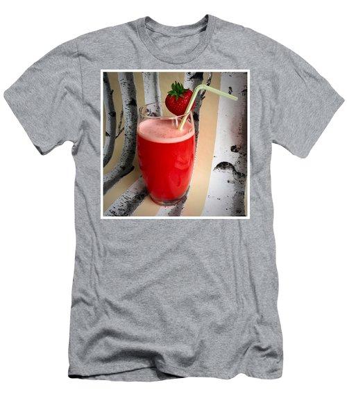 Strawberry Juice Men's T-Shirt (Slim Fit) by Kate V