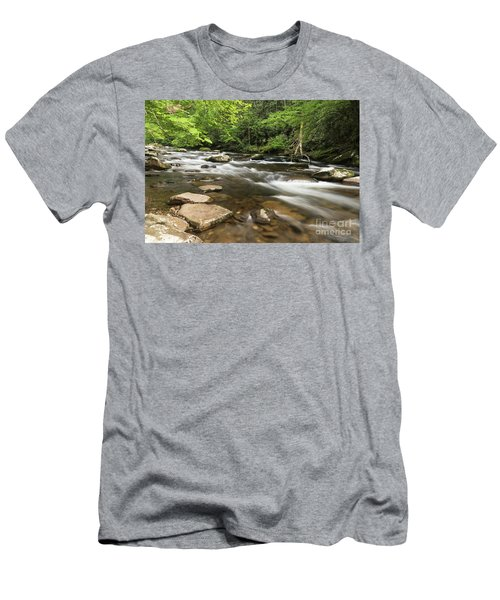 Stream In The Smokies Men's T-Shirt (Athletic Fit)