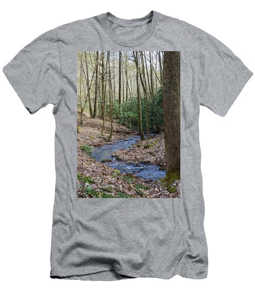 Stream In The Winter Woods Men's T-Shirt (Athletic Fit)