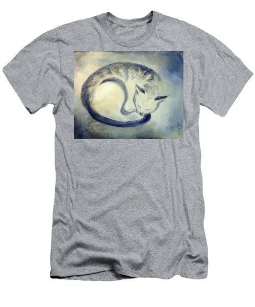 Stripey Cat 3 Men's T-Shirt (Slim Fit) by Dina Dargo