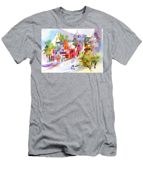 Stroll In Montreal Men's T-Shirt (Slim Fit) by Betty M M Wong