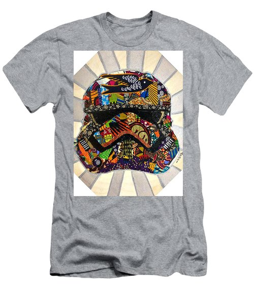 Men's T-Shirt (Athletic Fit) featuring the tapestry - textile Strom Trooper Afrofuturist  by Apanaki Temitayo M