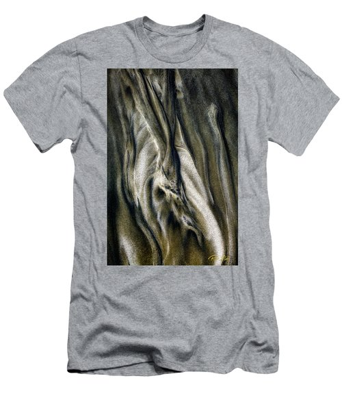 Men's T-Shirt (Athletic Fit) featuring the photograph Study In Brown Abstract Sands by Rikk Flohr