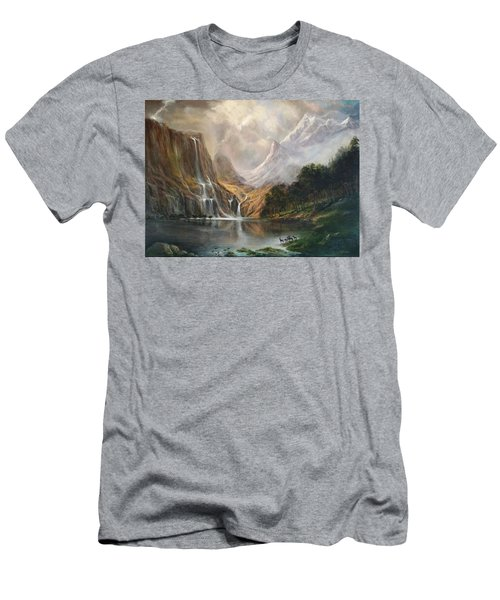 Men's T-Shirt (Slim Fit) featuring the painting Study In Nature by Donna Tucker
