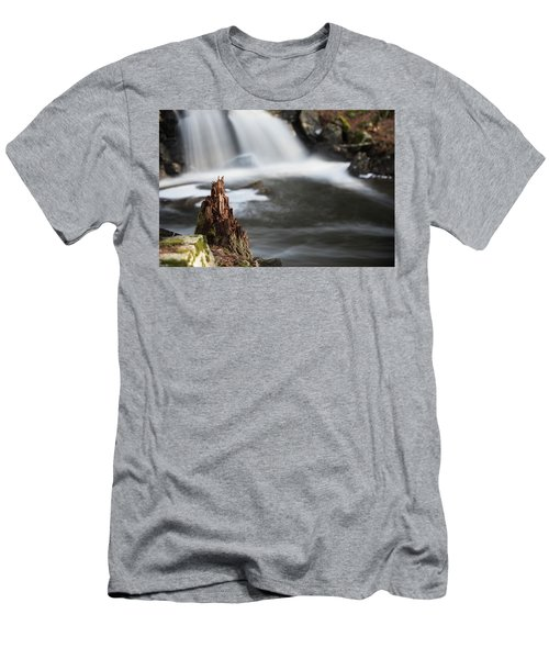 Men's T-Shirt (Athletic Fit) featuring the photograph Stumped At The Secret Waterfall by Brian Hale