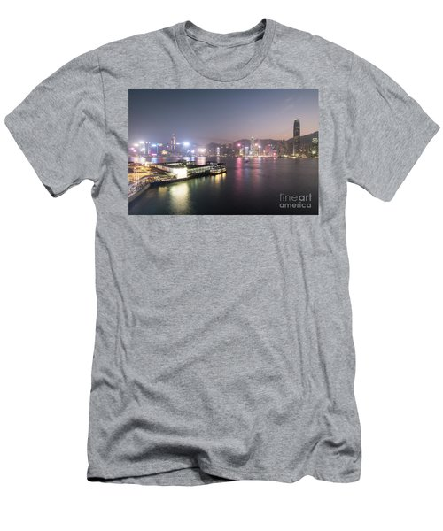 Stunning View Of The Twilight Over The Victoria Harbor And Star  Men's T-Shirt (Athletic Fit)