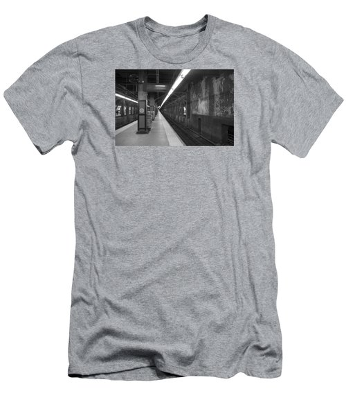 Subway At Grand Central Men's T-Shirt (Slim Fit) by Allen Carroll