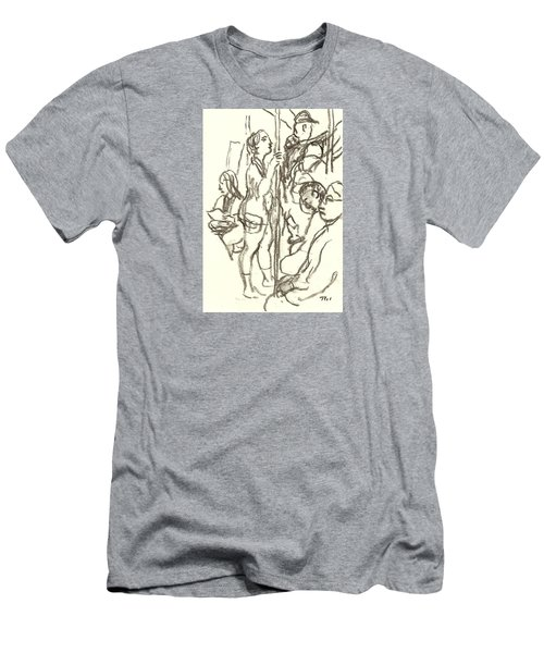 Subway Composition, Nyc Men's T-Shirt (Athletic Fit)