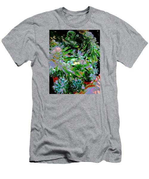 Men's T-Shirt (Slim Fit) featuring the photograph Succulent Pot by M Diane Bonaparte