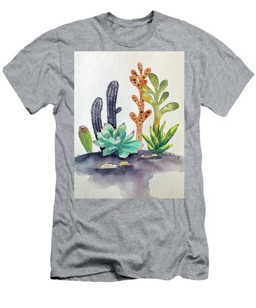 Succulents Desert Men's T-Shirt (Athletic Fit)