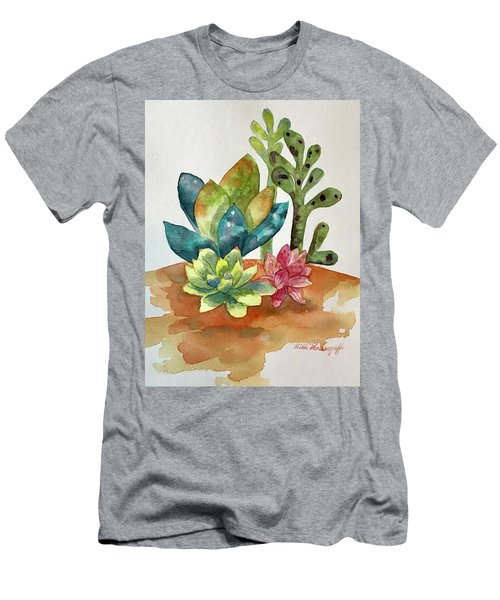 Succulents Men's T-Shirt (Athletic Fit)
