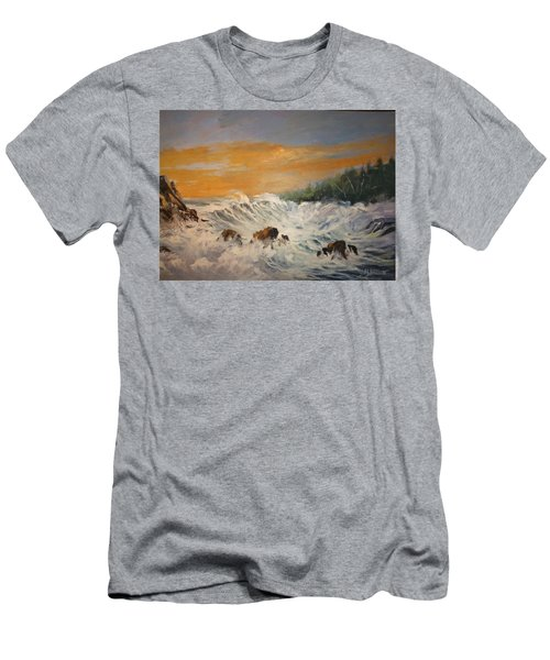 Sudden Turbulence At Suset Men's T-Shirt (Athletic Fit)