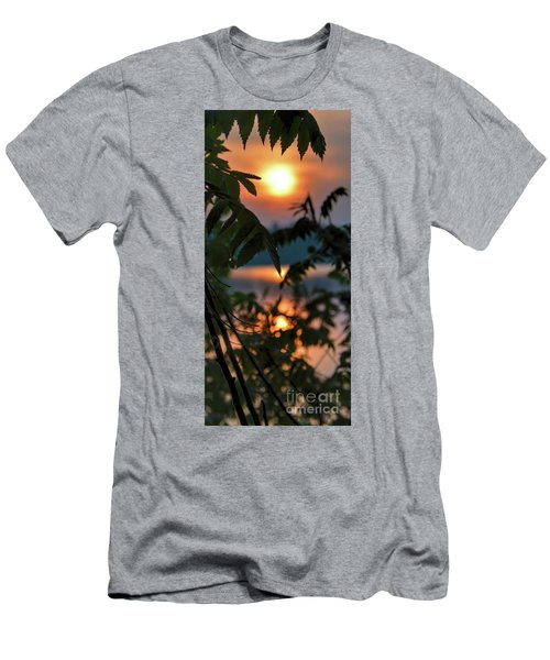 Sumac Sunrise At The Lake Men's T-Shirt (Slim Fit) by Henry Kowalski