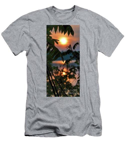 Sumac Sunrise At The Lake Men's T-Shirt (Athletic Fit)