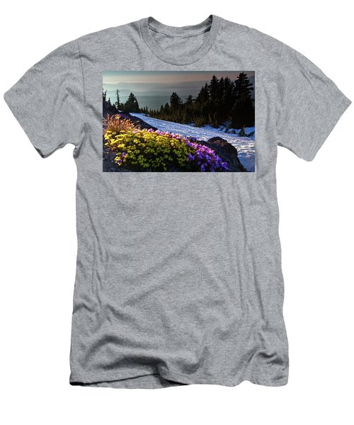 Men's T-Shirt (Athletic Fit) featuring the photograph Summer And Winter by David Chandler