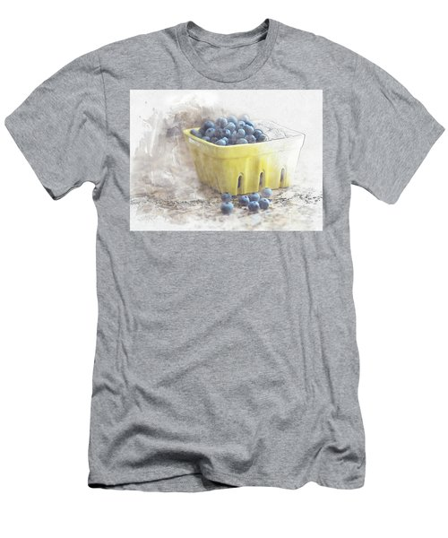 Men's T-Shirt (Athletic Fit) featuring the digital art Summer Blueberries by Sue Collura