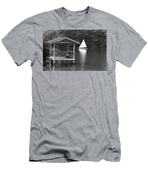 Summer Camp Black And White 1 Men's T-Shirt (Slim Fit) by Michael Fryd