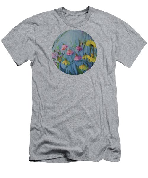 Summer Flower Garden Men's T-Shirt (Slim Fit) by Mary Wolf
