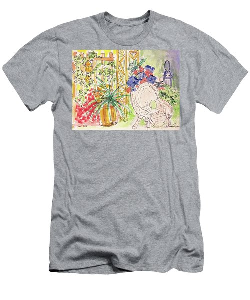 Summer Garden Men's T-Shirt (Slim Fit) by Barbara Anna Knauf