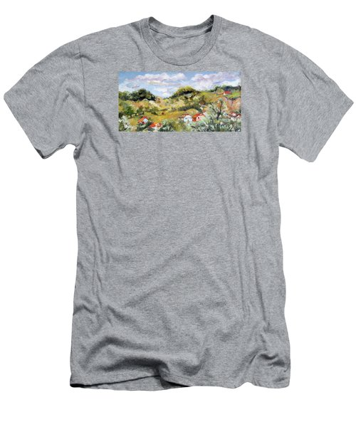 Summer Landscape Men's T-Shirt (Slim Fit) by Vali Irina Ciobanu