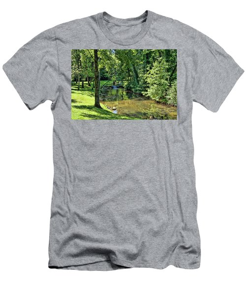 Men's T-Shirt (Slim Fit) featuring the photograph Summer Stream by Cricket Hackmann