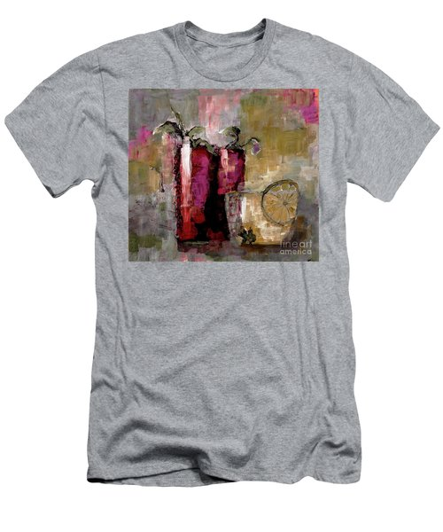 Summer Sunday Sangria With Lemon Water Infusion Painting Men's T-Shirt (Athletic Fit)