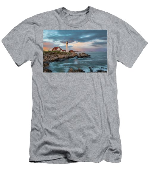 Summer Sunset At Portland Head Light Men's T-Shirt (Athletic Fit)