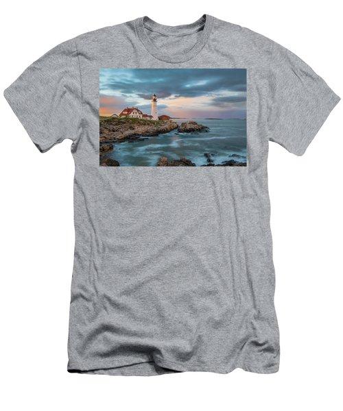 Summer Sunset At Portland Head Light Men's T-Shirt (Athletic Fit)