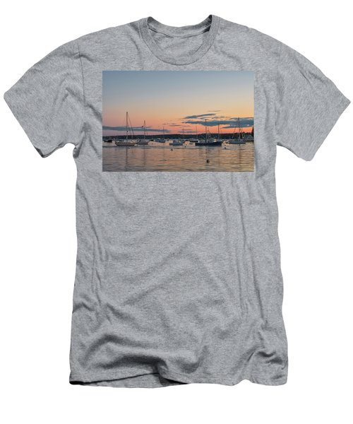 Summer Sunset In Boothbay Harbor Men's T-Shirt (Athletic Fit)