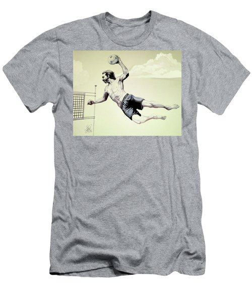 Summer Time Volley Ball Men's T-Shirt (Athletic Fit)