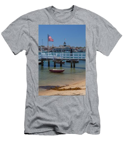 Summertime In  Newport Beach Harbor Men's T-Shirt (Athletic Fit)