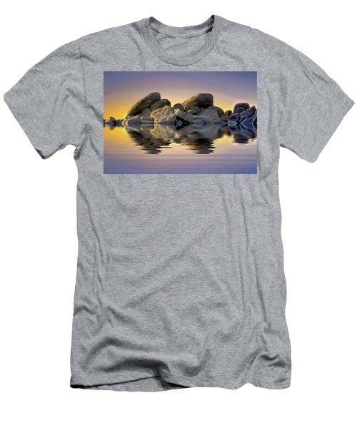 Sun Bathed Rocks Men's T-Shirt (Athletic Fit)