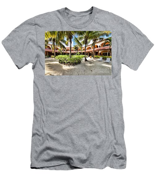 Men's T-Shirt (Slim Fit) featuring the photograph Sun Breeze Hotel by Lawrence Burry