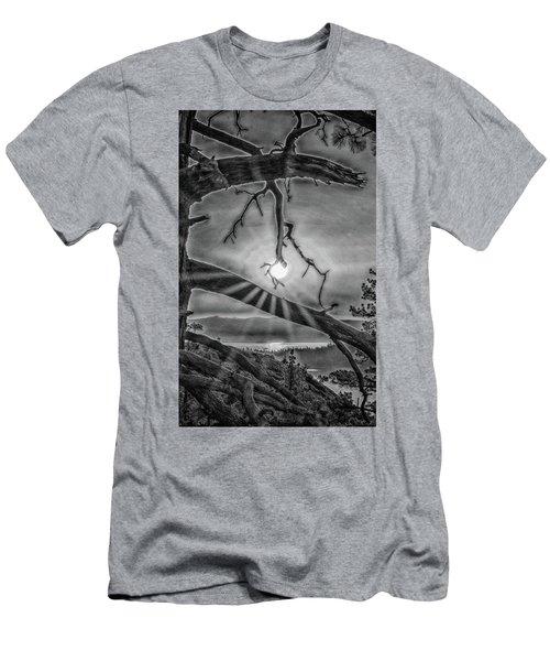 Sun Ornament - Black And White Men's T-Shirt (Athletic Fit)