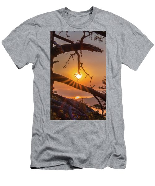 Sun Ornament - Cropped Men's T-Shirt (Athletic Fit)
