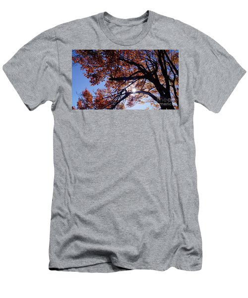 Men's T-Shirt (Athletic Fit) featuring the photograph Sun Peaking Threw by Debra Crank