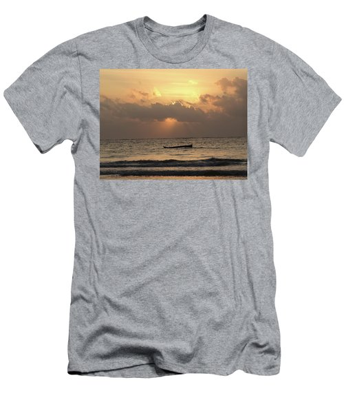 Sun Rays On The Water With Wooden Dhows Men's T-Shirt (Athletic Fit)