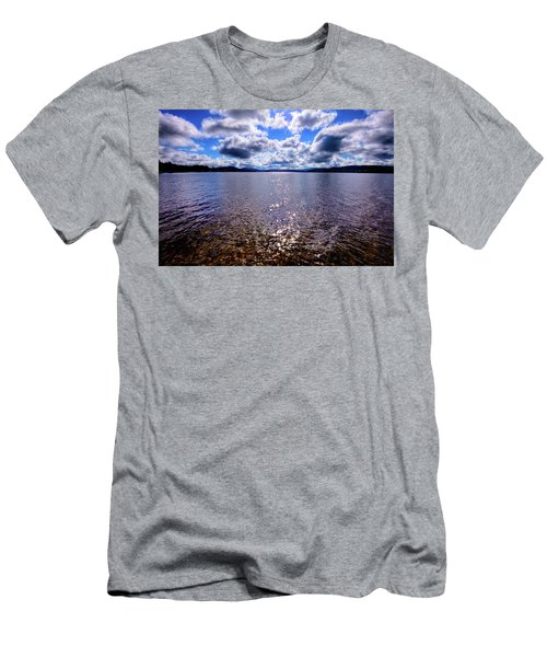Men's T-Shirt (Athletic Fit) featuring the photograph Sun Shining Over Palmer Point by David Patterson