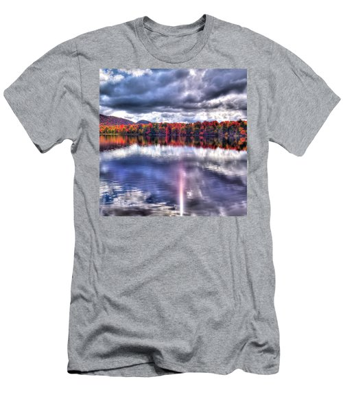 Men's T-Shirt (Slim Fit) featuring the photograph Sun Streaks On West Lake by David Patterson