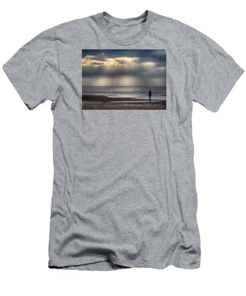 Sun Through The Clouds 2 5x7 Men's T-Shirt (Athletic Fit)