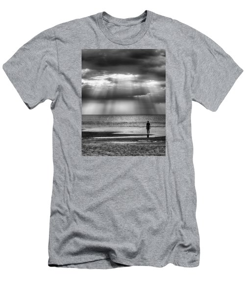 Sun Through The Clouds Bw 11x14 Men's T-Shirt (Athletic Fit)