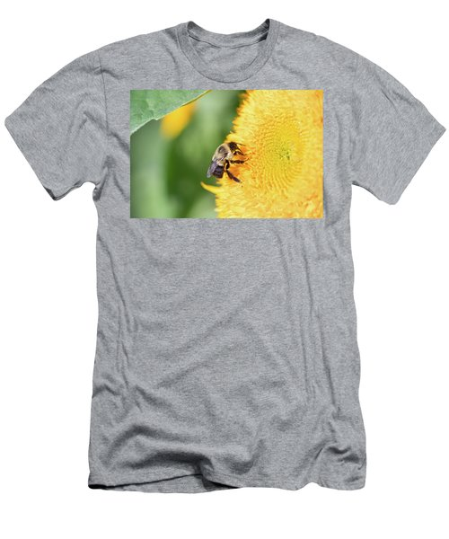 Men's T-Shirt (Athletic Fit) featuring the photograph Sunflower Bee by Brian Hale