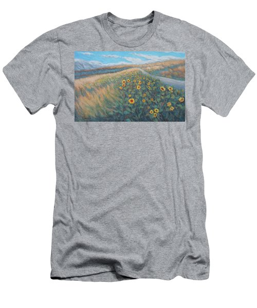 Sunflower Journey Men's T-Shirt (Athletic Fit)