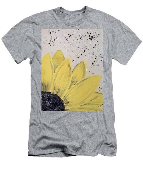 Sunflower Splatter Men's T-Shirt (Athletic Fit)