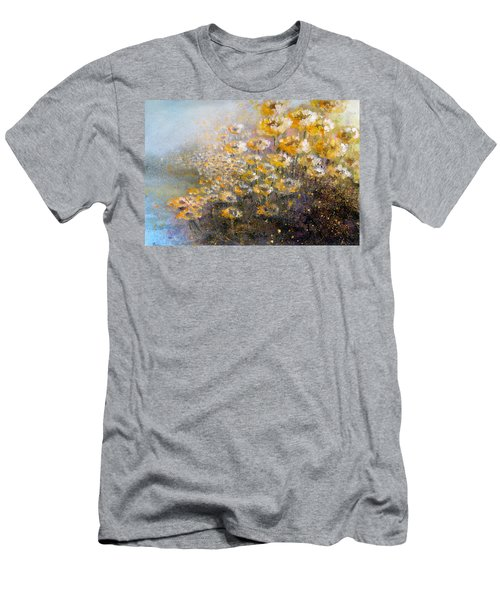 Men's T-Shirt (Athletic Fit) featuring the painting Sunflowers by Andrew King