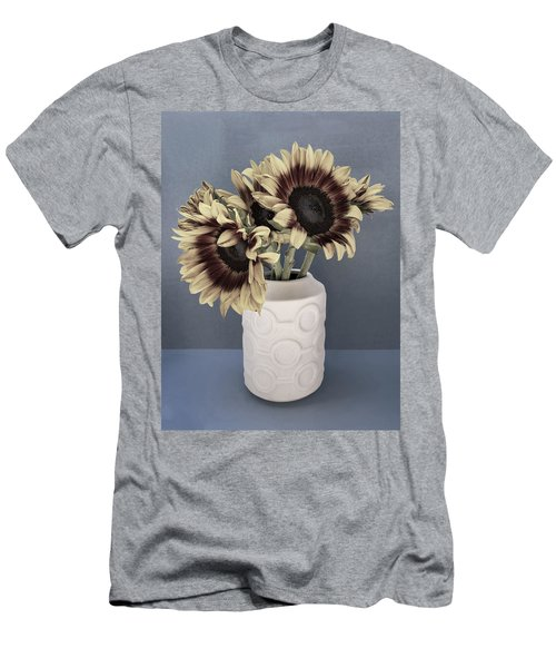 Sunflowers Fade To Grey Men's T-Shirt (Athletic Fit)