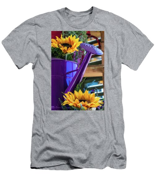 Complementary Sunflowers Men's T-Shirt (Athletic Fit)