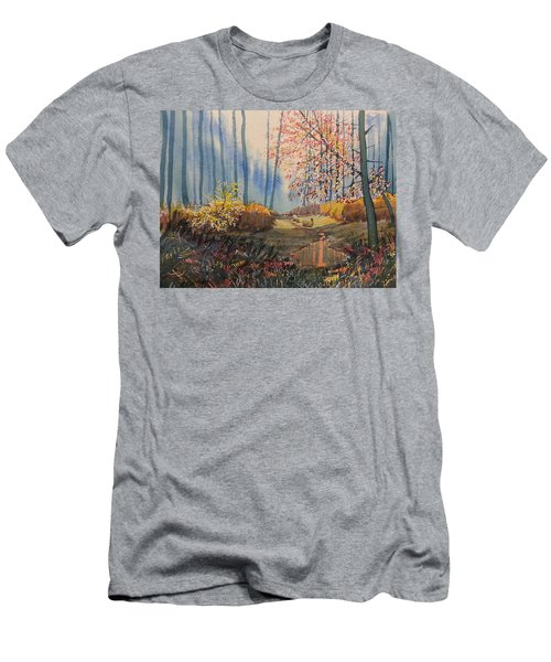 Sunlight And Sheep In Sledmere Woods Men's T-Shirt (Athletic Fit)