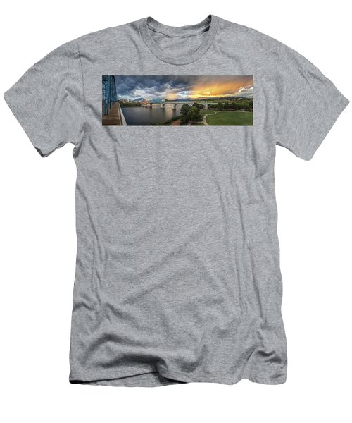 Sunlight And Showers Over Chattanooga Men's T-Shirt (Slim Fit) by Steven Llorca