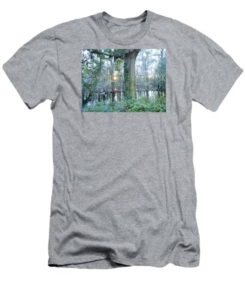 Sunlight On The Edisto River Men's T-Shirt (Slim Fit) by Kay Gilley